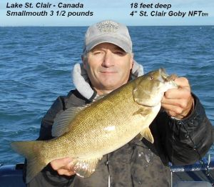 This one was only 3 1/2 lbs but it was in an area with many more smallmouth in 18 feet of water