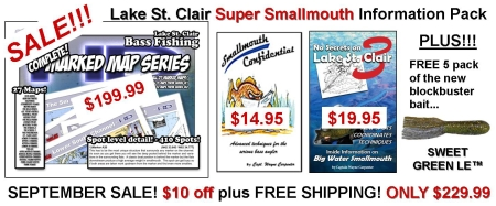 St Clair Super Smallmouth Info Pack